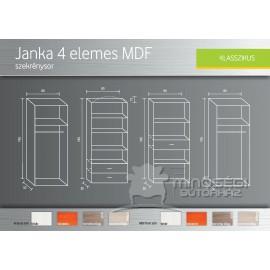 Janka 4 elemes MDF szekrénysor