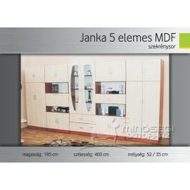 Janka 5 elemes MDF szekrénysor