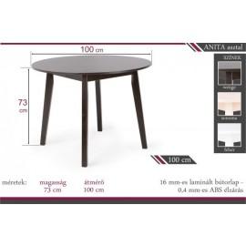 Anita kerek asztal 100cm